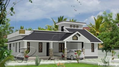 Photo of 1398 Sq Ft 3BHK Traditional Style Single Floor House and Free Plan
