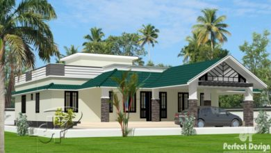 Photo of 1585 Sq Ft 3BHK Traditional Style Single Floor House and Free Plan