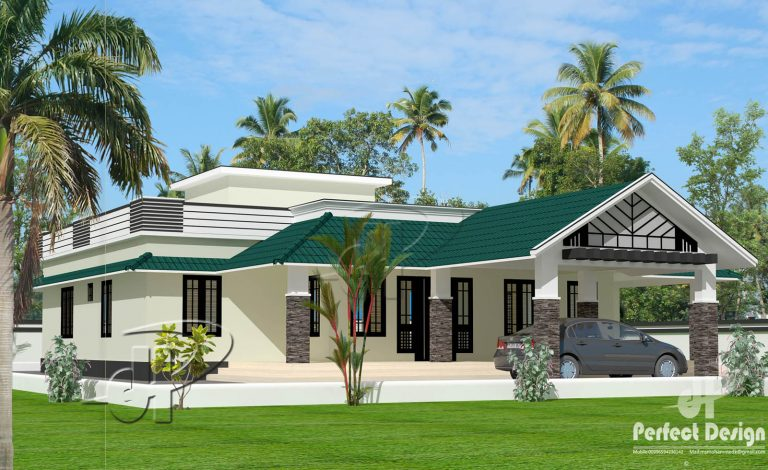1585 Sq Ft 3BHK Traditional Style Single Floor House and Free Plan