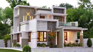 Photo of 1642 Sq Ft 3BHK Contemporary Style Two-Storey House and Free Plan