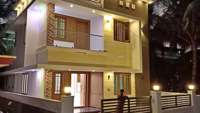 Photo of 1730 Sq Ft 4BHK Contemporary Style Two-Storey House and Free Plan