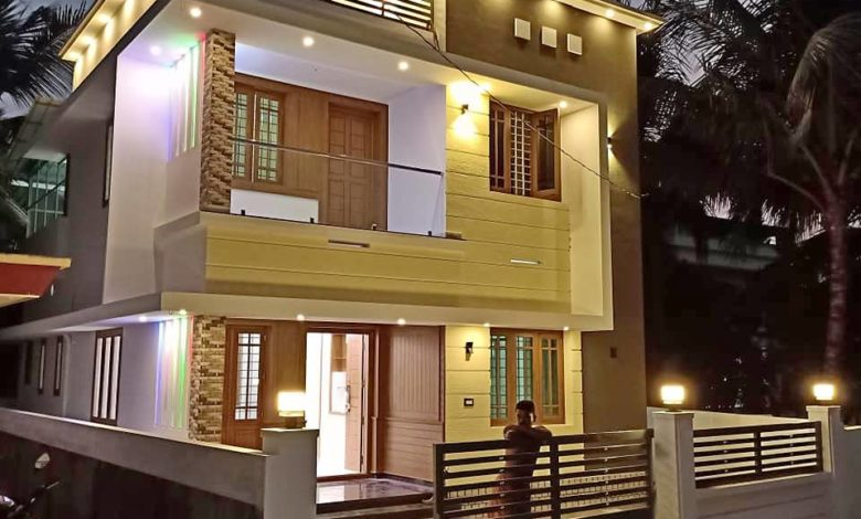 1730 Sq Ft 4BHK Contemporary Style Two-Storey House and Free Plan