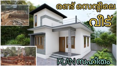 Photo of 2 Bedroom Modern Single Floor Low budget House at 2 Cent Plot, Free Plan