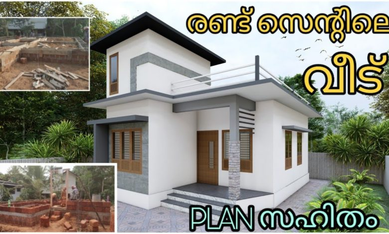 2 Bedroom Modern Single Floor Low budget House at 2 Cent Plot, Free Plan