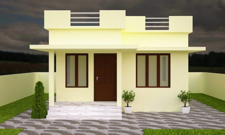 530 Sq Ft 2BHK Modern Low Budget House and Free Plan, 7.42 Lacks