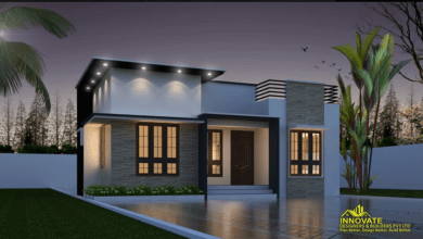 Photo of 663 Sq Ft 2BHK Fusion Style Single-Storey House and Free Plan