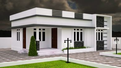 Photo of 683 Sq Ft 3BHK Modern Single Floor House and Free Plan