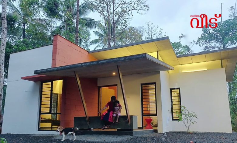 710 Sq Ft 2BHK Contemporary Style Single Floor House and Free Plan, 7 Lacks
