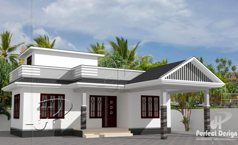 734 Sq Ft 2BHK Traditional Style 2BHK House and Free Plan