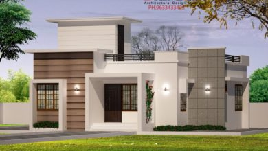 Photo of 750 Sq Ft 2BHK Contemporary Style Single Floor House and Free Plan, 12 Lacks