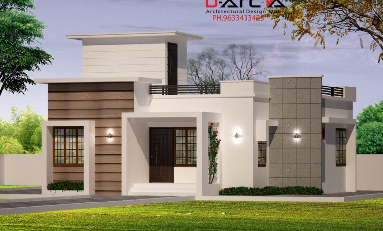 750 Sq Ft 2BHK Contemporary Style Single Floor House and Free Plan, 12 Lacks