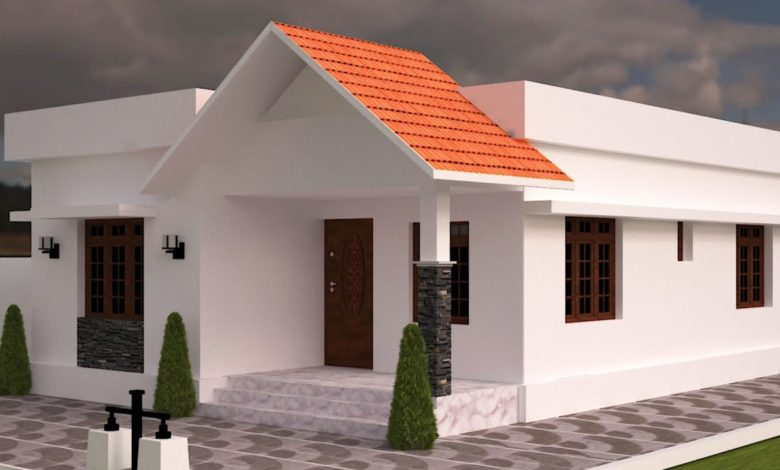 820 Sq Ft 2BHK Traditional Style Single Floor House and Free Plan