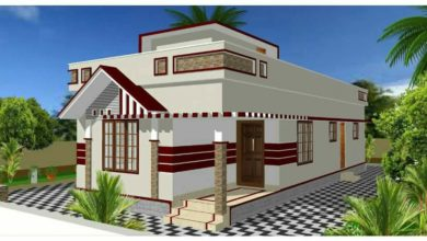 Photo of 888 Sq Ft 2BHK Modern Single Floor Low Budget House and Free Plan