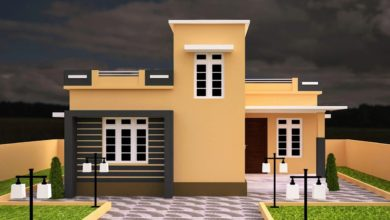 Photo of 890 Sq Ft 2BHK Contemporary Style Single-Storey House and Free Plan