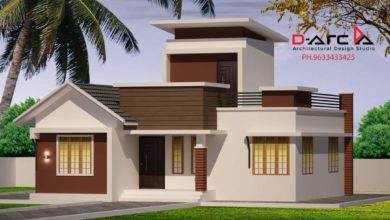 Photo of 917 Sq Ft 3BHK Modern Single Floor House and Free Plan, 15 Lacks