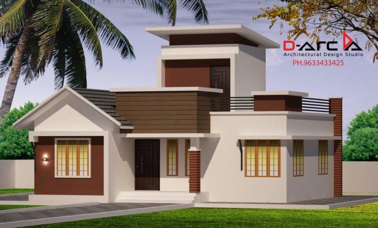 917 Sq Ft 3BHK Modern Single Floor House and Free Plan, 15 Lacks