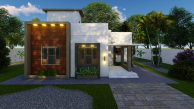 Photo of 950 Sq Ft 2BHK Contemporary Style Single Floor House and Free Plan
