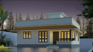 Photo of 988 Sq Ft 3BHK Traditional Style Single Floor House and Free Plan