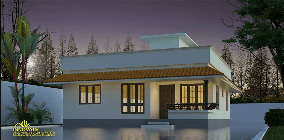 988 Sq Ft 3BHK Traditional Style Single Floor House and Free Plan