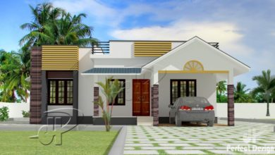 Photo of 1087 Sq Ft 3BHK Traditional Style Single Floor House and Free Plan