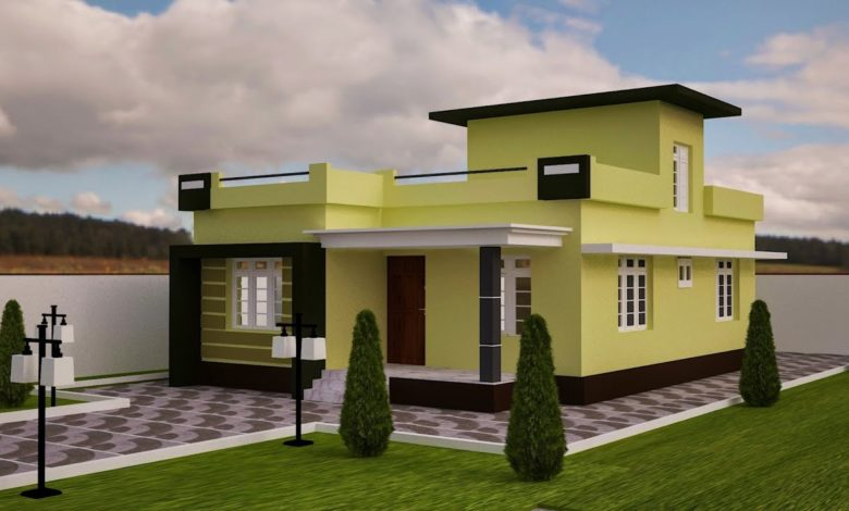 1102 Sq Ft 2BHK Modern Single Floor House and Free Plan
