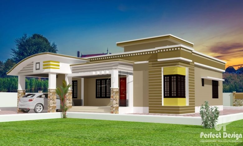 1129 Sq Ft 3BHK Contemporary Style Single Floor House and Free Plan