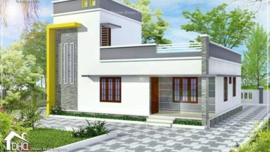 Photo of 1160 Sq Ft 3BHK Contemporary Style Two-Storey House and Free Plan