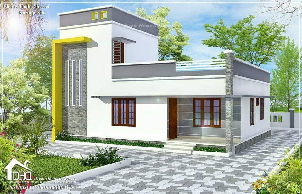 1160 Sq Ft 3BHK Contemporary Style Two-Storey House and Free Plan