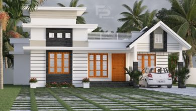 Photo of 1181 Sq Ft 3BHK Contemporary Style Single Storey House and Free Plan