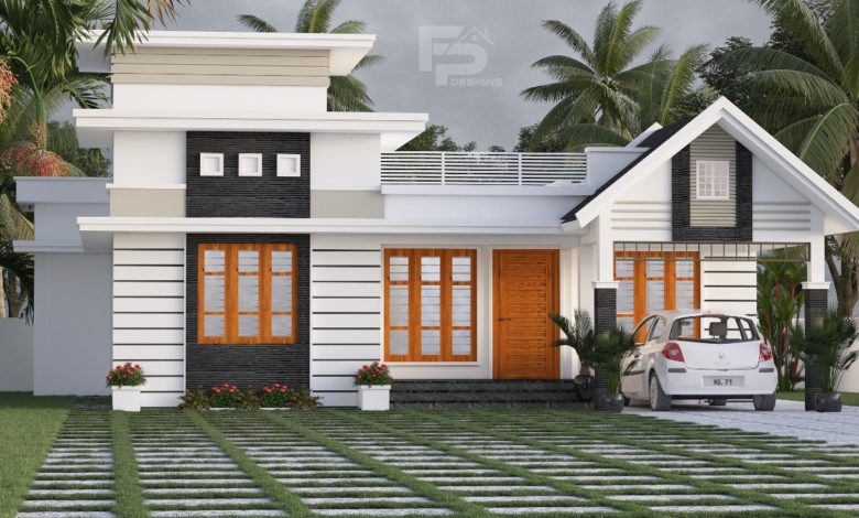 1181 Sq Ft 3BHK Contemporary Style Single Storey House and Free Plan