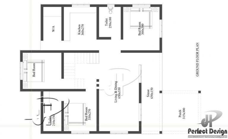 1194 Sq Ft 3BHK Traditional-Modern Single Floor House and Free Plan