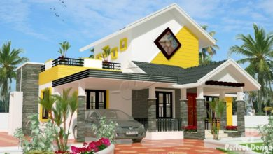 Photo of 1225 Sq Ft 3BHK Traditional Style Single Floor House and Free Plan