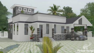 Photo of 1237 Sq Ft Traditional-Contemporary Style Single Floor House and Free Plan