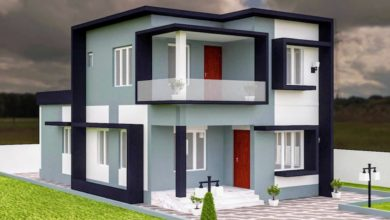 Photo of 1353 Sq Ft 3BHK Contemporary Style Two-Storey House and Free Plan