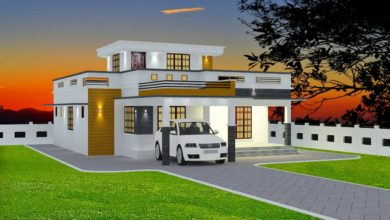 Photo of 1370 Sq Ft 3BHK Modern Single Floor House and Free Plan