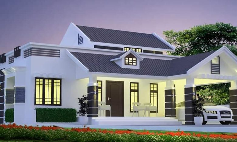 1480 Sq Ft 2BHK Colonial Style Single-Storey House and Free Plan