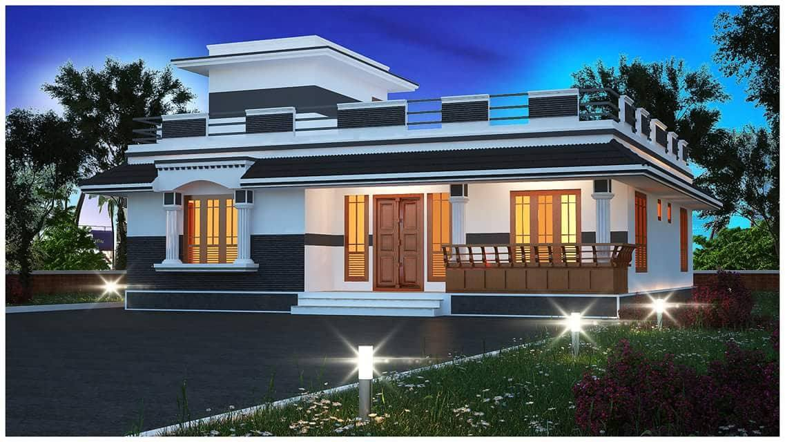 1500 Sq Ft 3BHK Traditional Style Single Floor House and Free Plan