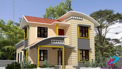Photo of 1550 Sq Ft 3BHK Contemporary Style Two-Storey House and Free Plan