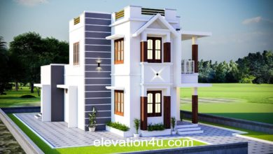 Photo of 1551 Sq Ft 4BHK Contemporary Style Two-Storey House and Free Plan