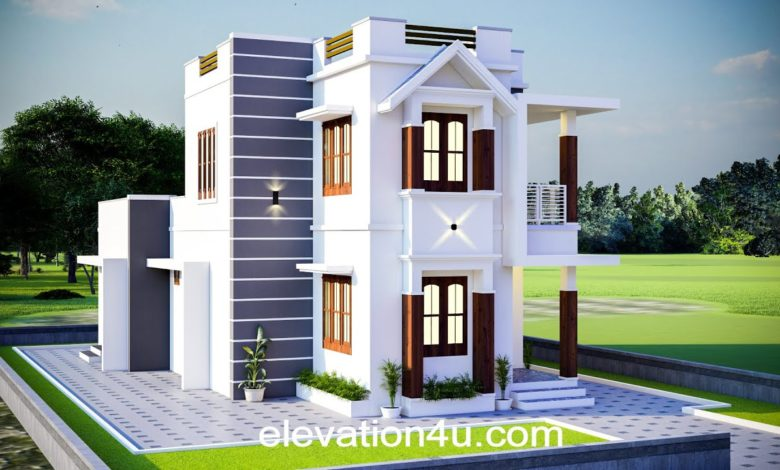1551 Sq Ft 4BHK Contemporary Style Two-Storey House and Free Plan