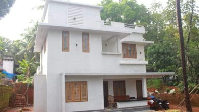 Photo of 1800 Sq Ft 4BHK Contemporary Style Two-Storey House and Free Plan