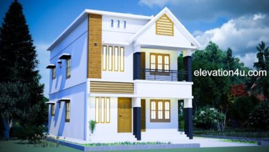 Photo of 2030 Sq Ft 4BHK Modern Two-Storey House and Free Plan