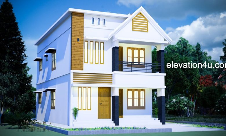 2030 Sq Ft 4BHK Modern Two-Storey House and Free Plan