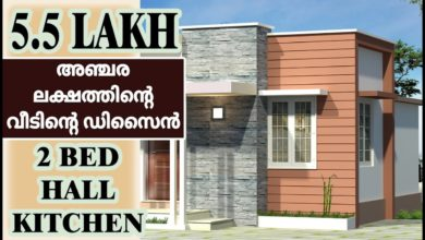Photo of 438 Sq Ft 2BHK Modern Single Floor House and Free Plan, 5.5 Lacks