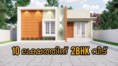 Photo of 687 Sq Ft 2BHK Contemporary Style House and Free Plan, 10 Lacks