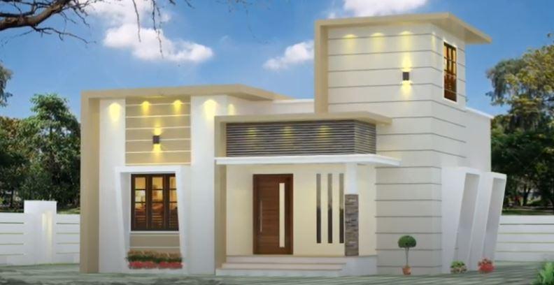 750 Sq Ft 2BHK Modern Single Floor House and Free Plan, 12 Lacks