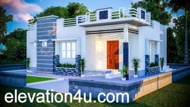 Photo of 780 Sq Ft 2BHK Contemporary Style Single Floor House and Free Plan