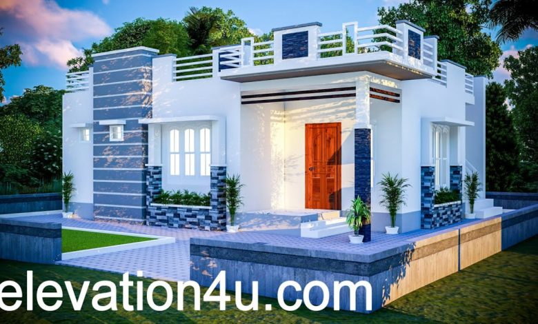 780 Sq Ft 2BHK Contemporary Style Single Floor House and Free Plan