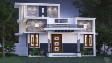 Photo of 833 Sq Ft 2BHK Fusion Style Single Floor House and Free Plan