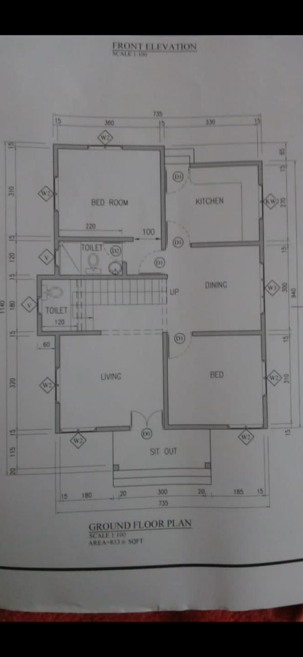 833 Sq Ft 2BHK Fusion Style Single Floor House and Free Plan